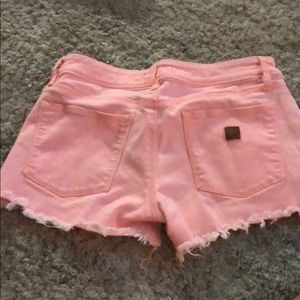 Roxy Shorts - Roxy cutoff Jean shorts! Gorgeous color coral